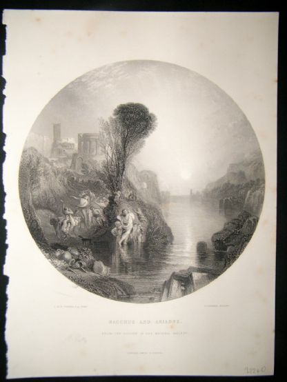 After Turner 1860 Antique Print, Bacchus and Ariadne, Art Journal | Albion Prints